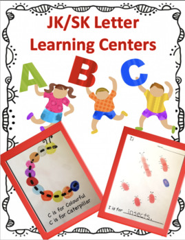 Kindergarten Letter/ Literacy Learning Centres Bundle!
