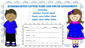 Kindergarten Letter Name and ID Assessment