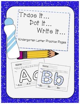 Kindergarten Letter Practice Pages