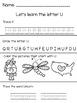 Kindergarten Letter Practice Sheets or Morning Work
