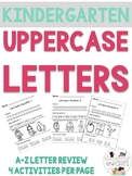 Kindergarten Letter Practice Sheets or Morning Work- Dista