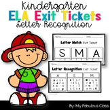 Kindergarten Letter Recognition Exit Tickets