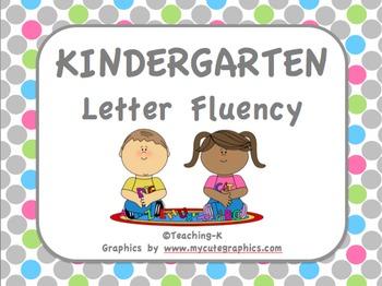 Kindergarten Letter Recognition Fluency Charts