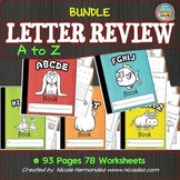#SPRINGSAVINGS Kindergarten Letter Review 'a' to 'z' BUNDLE