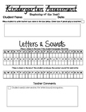 Kindergarten Letter Sound Assessment