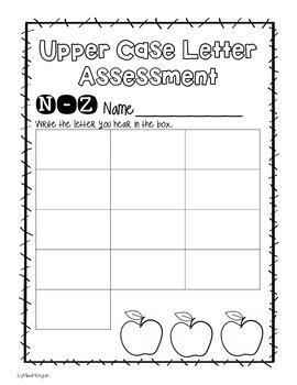 Kindergarten Letter and Number Assessment