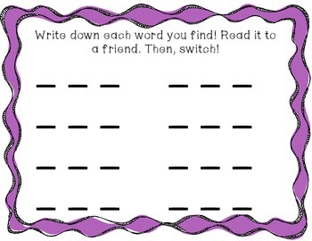 Kindergarten Letter and Word Hunts! Seek and Find Lit Center Fun!
