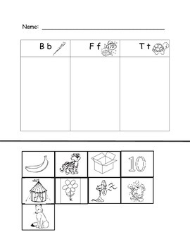 Kindergarten Letter and Sound Supplemental Materials