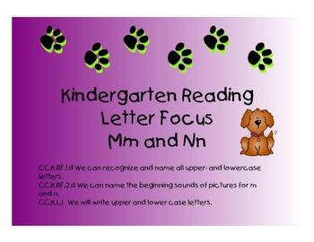 Kindergarten Letters:  Mm and Nn