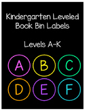 Kindergarten Leveled Book Bin Labels