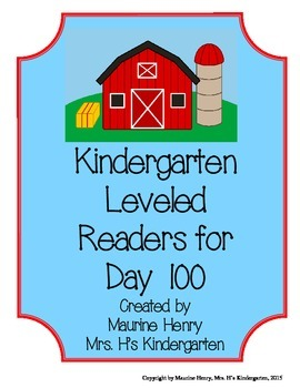 Kindergarten Leveled Readers for Day 100