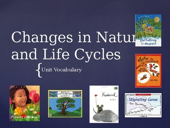 Life Cycles Vocabulary