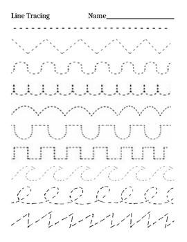 Kindergarten Line Tracing Practice By Rainbowartteacher Tpt