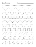 Kindergarten Line Tracing Practice