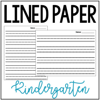 ruled paper for kindergarten