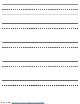 Striking image with printable lined paper for kindergarten