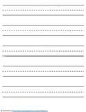 Kindergarten Lined Paper