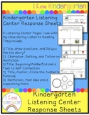 Kindergarten Listening Center Response Sheets