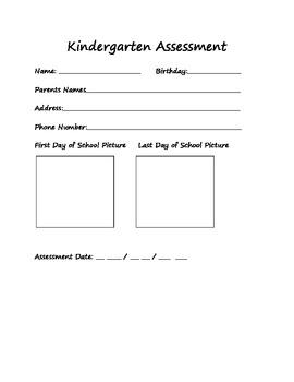 Kindergarten Literacy Assessment