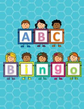 Kindergarten Literacy Center - Alphabet Bingo - Letter Recognition
