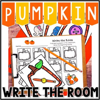 Kindergarten Literacy Center - Beginning Sound Write the Room