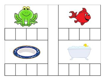 Kindergarten Literacy Center - Build a Blend - Heart Edition - Valentine's Day
