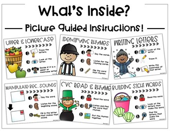 Kindergarten Literacy Center Bundle