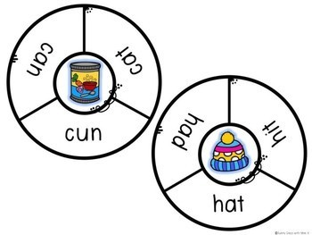 Kindergarten Literacy Center - CVC Word Center - CVC Word Clip Cards