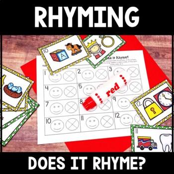 Kindergarten Literacy Center - Rhyming Center