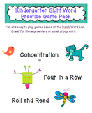 Kindergarten Literacy Center Sight Word Games