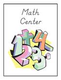 Kindergarten Literacy Center Signs