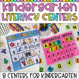 Kindergarten Literacy Centers - Beginning Sounds, CVC and Letters