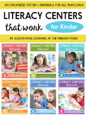 Literacy Centers Bundle for Kindergarten {Literacy Centers That Work Series}