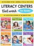 Literacy Centers for Kindergarten {BUNDLE}
