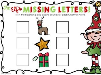 Kindergarten Literacy Centers {December}