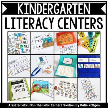 Kindergarten Literacy Centers GROWING Bundle