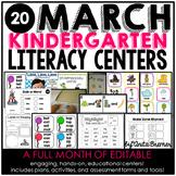 Kindergarten Literacy Centers {March}
