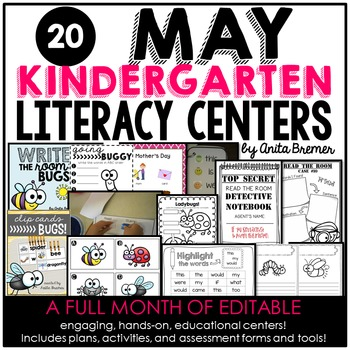 Kindergarten Literacy Centers {May}