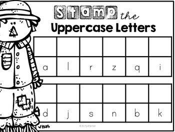 Kindergarten Literacy Centers {October}