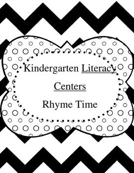 Kindergarten Literacy Centers - Rhyme Time