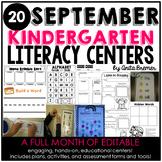Kindergarten Literacy Centers {September}