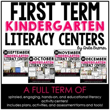 Kindergarten Literacy Centers {September-December}