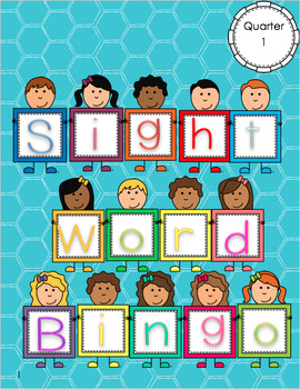 Kindergarten Literacy Centers - Sight Word Bingo - All 4 Quarters