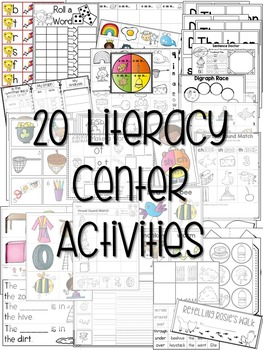 Kindergarten Literacy Centers Unit 7 {March}