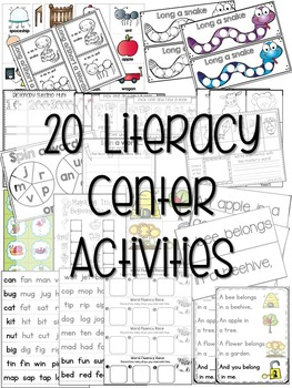 Kindergarten Literacy Centers Unit 7 {March}