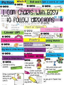 Kindergarten Literacy Centers Unit 8 {April}