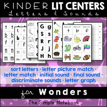 Kindergarten Literacy Centers: Wonders