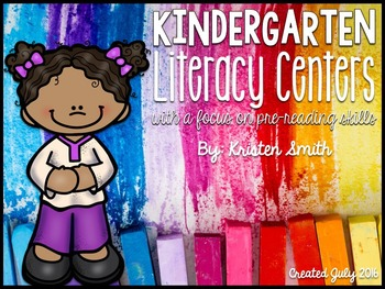 Kindergarten Literacy Centers {with a focus on pre-reading