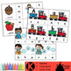 Kindergarten Literacy Clip Cards Center Bundle