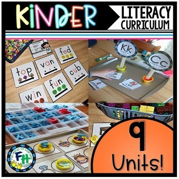 Kindergarten Literacy Curriculum {GROWING}
